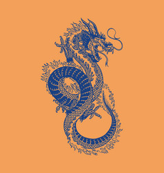 japanese dragon mythological animal or asian vector image