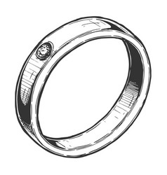jewelry ring vector image