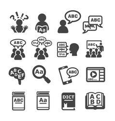 Language icon vector