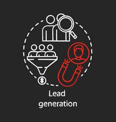 Lead generation chalk concept icon digital vector