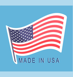 made in usa flag emblem text original american vector image