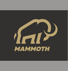 Mammoth logo template on a dark background vector