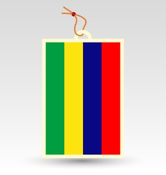 Mauritian flag made in tag vector
