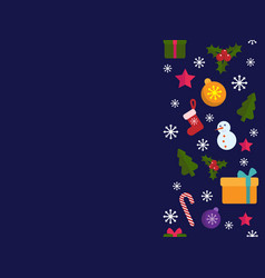 merry christmas frame holiday banner vector image