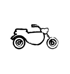 motorcycle transport motor adventure sketch vector image