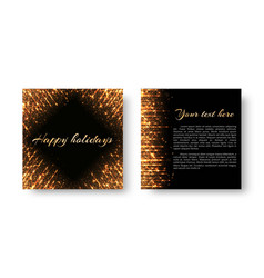 New years leaflet with sparkles vector