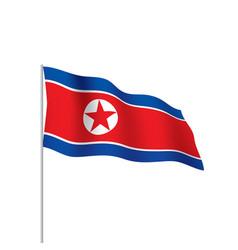 north korea flag vector image