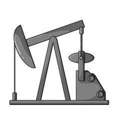 oil pumpoil single icon in monochrome style vector image