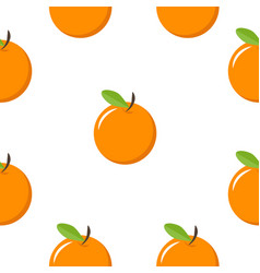 oranges fruit seamless pattern vector image