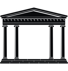 portico of ancient temple vector image