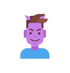 Profile icon male emotion avatar man cartoon vector