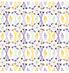 purple lavender leaf stem lilac and yellow vector image