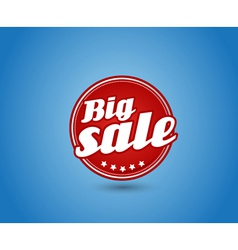 Red board with big sale sign vector image