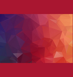red dark polygonal mosaic background geometric vector image