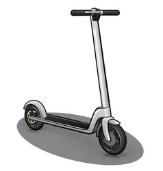 Scooter design drawing isolated vector
