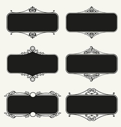 Set of calligraphic frames vector