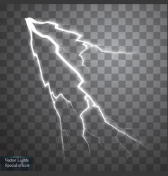 Set of lightnings thunder-storm and lightnings vector