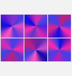 Set purple conical gradients vector