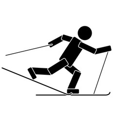 ski race flat icon vector image