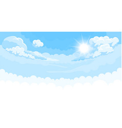 Sky background with sun and white bottom vector