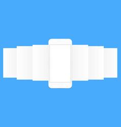 Smartphone with app screens vector