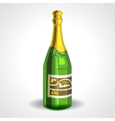 Soviet champagne bottle or sparkling wine vector image