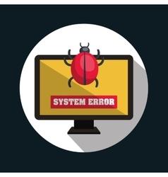 System error virus monitor design vector