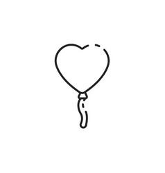 Thin line love balloon icon vector