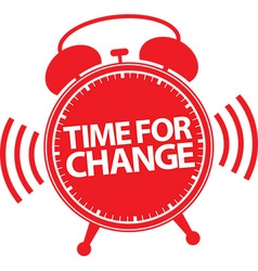 Time for change alarm clock icon vector image