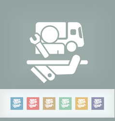 top quality truck assistance vector image