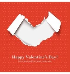 Torn paper heart vector image