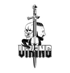 vikingi helmet 0010 vector image
