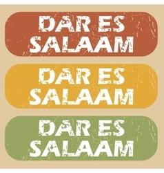 Vintage Dar Es Salaam stamps vector