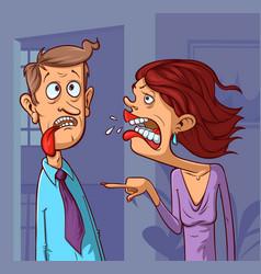 woman yelling at a man vector image