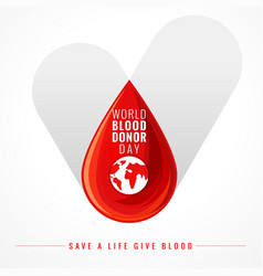 World blood donor day check vector