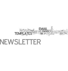 A guide to user friendly email newsletter vector