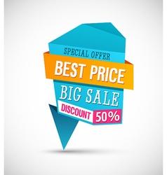 Big Sale Best Price Banner vector image vector image