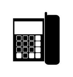 silhouette telephone communication call office vector image