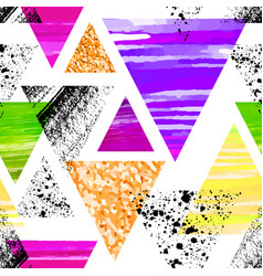 abstract watercolor triangle seamless pattern vector image