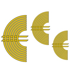 Euro currency sign vector image vector image
