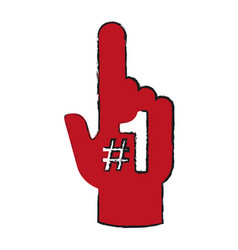 Fan foam finger icon image vector