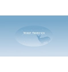 Merry Christmas deer scenery at winter silhouettes vector image vector image