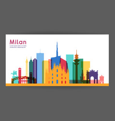 milan colorful architecture vector image vector image