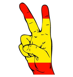 Peace Sign of the Spanish flag vector image vector image