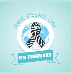 29 february rare disease day vector