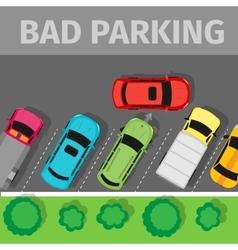 Bad Parking Top View vector image vector image