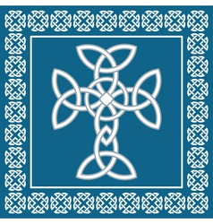 Celtic crosssymbolizes eternity vector image