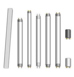 Set of fluorescent lamps vector