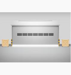 shutter door vector image