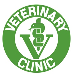 veterinary clinic symbol vector image vector image